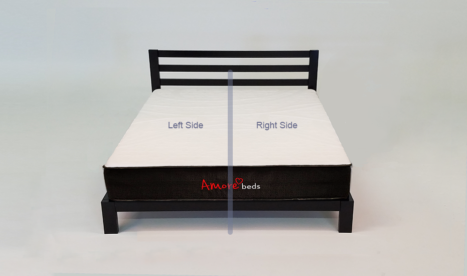 Hybrid Bed With Personalizations For Dual Partner Comfort