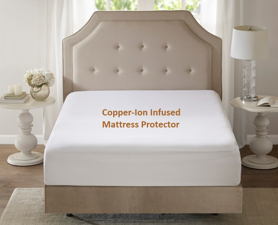 Copper Mattress Protector Amore Beds Copper Ion Infused
