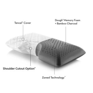 zoned bamboo charcoal luxury pillow